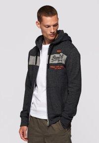 Superdry - Zip-up sweatshirt - dark grey - 0