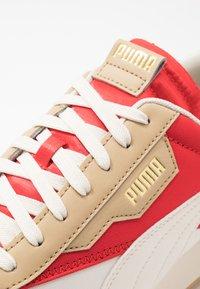 Puma - RIDER - Sneakers basse - whisper white/pebble/high risk red - 5