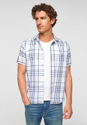 Shirt - white check