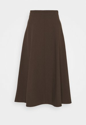 EVI SKIRT  - Gonna a campana - chicory coffee mix