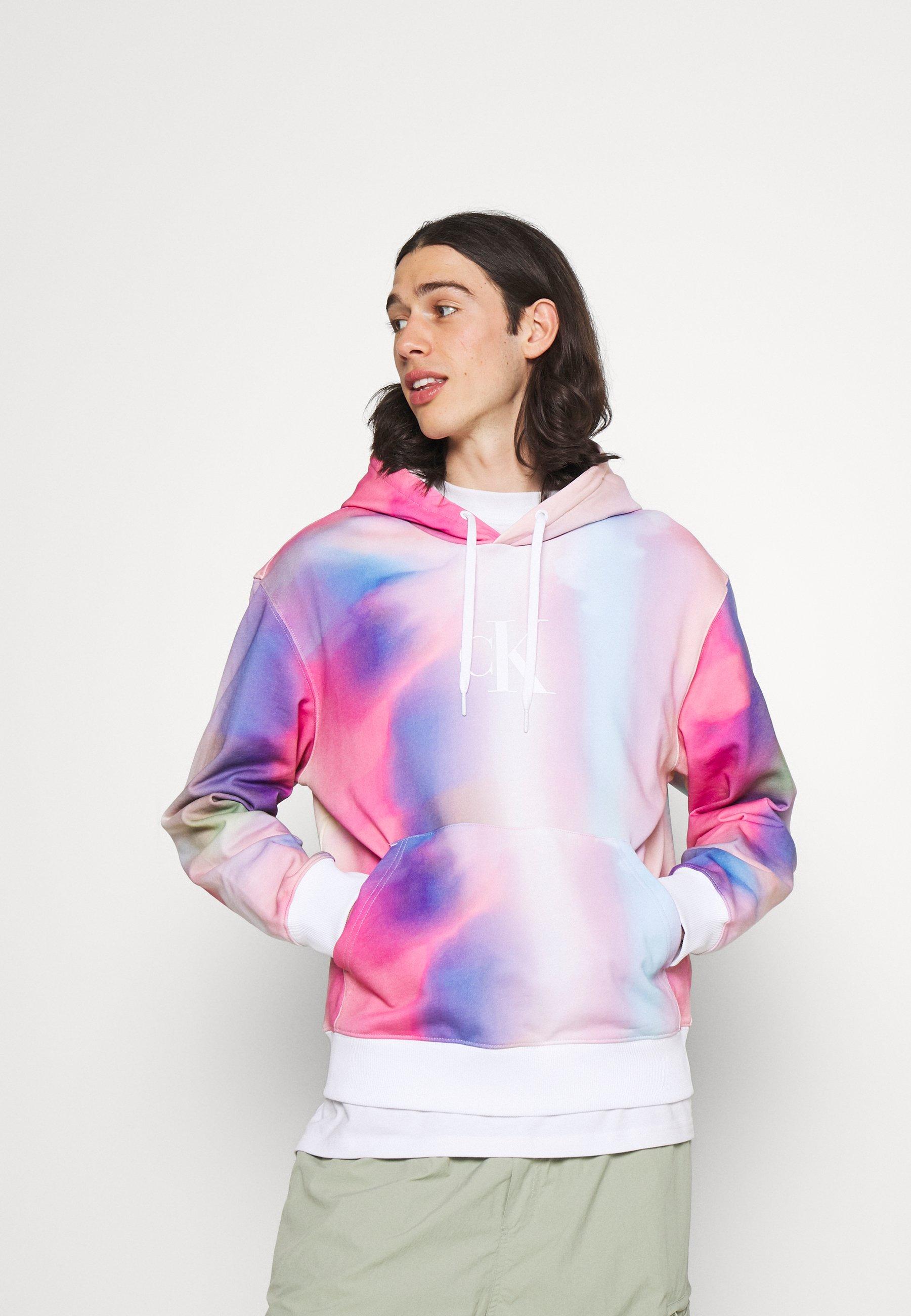 Men HOODIE UNISEX - Zip-up sweatshirt - pride marble
