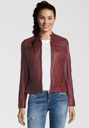 SALVINA - Leather jacket - red