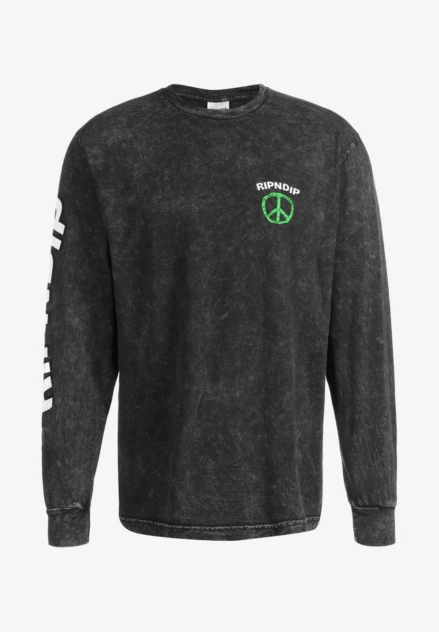 Pitkähihainen paita - black mineral wash