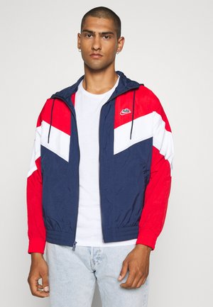 Windbreaker - midnight navy/university red/white