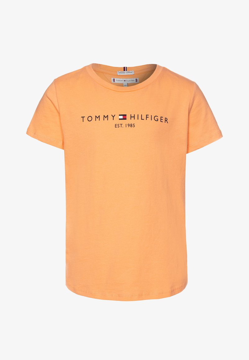 Tommy Hilfiger - ESSENTIAL TEE  - T-shirt print - orange