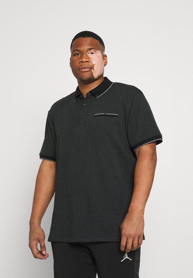 TIPPED - Polo shirt - black