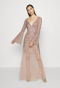 Maya Deluxe - EMBELLISHED V NECK MAXI DRESS - Ballkjole - taupe blush - 0