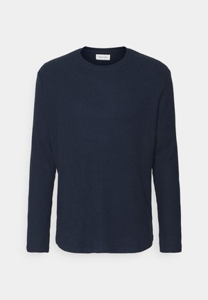 RIBBED LOUNGE TOP - Pyjama top - dark blue