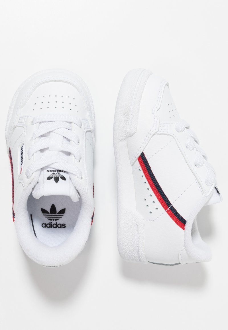 adidas Originals - CONTINENTAL 80 - Baby shoes - footwear white/scarlet/collegiate navy
