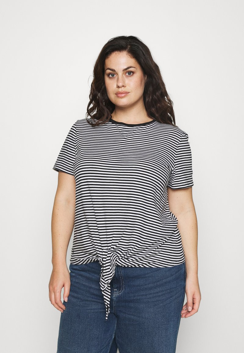Lauren Ralph Lauren Woman - GENARO SHORT SLEEVE - Basic T-shirt - black/white