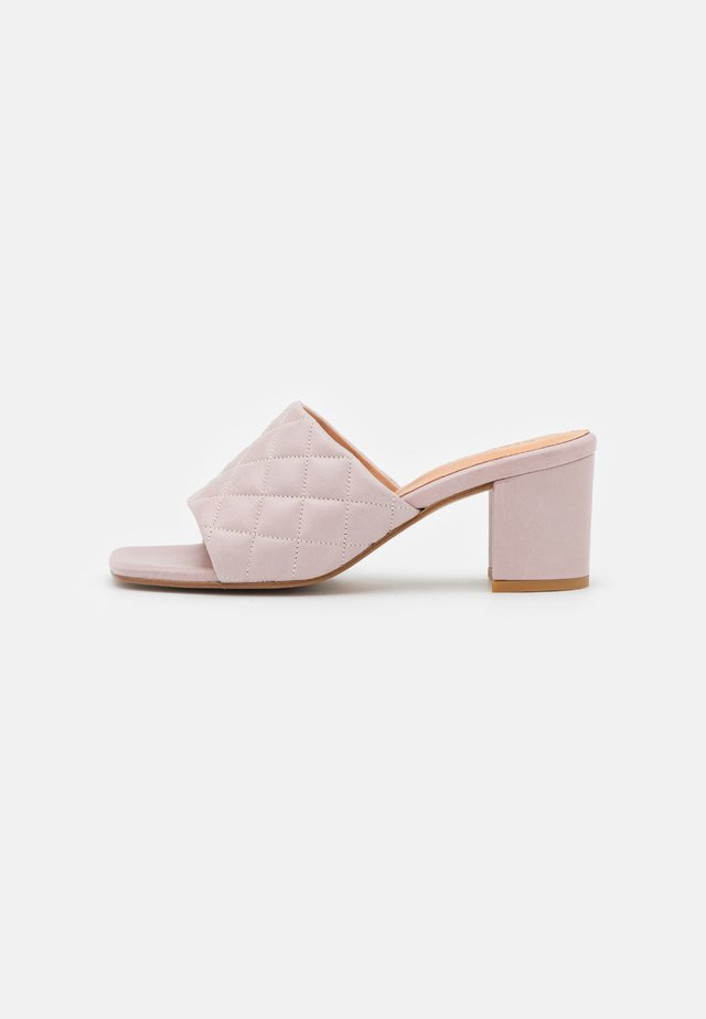 BIABEONNA QUILT - Heeled mules - lilac