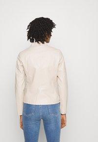 ONLY - ONLMELISA FAUX JACKET - Faux leather jacket - moonbeam - 2
