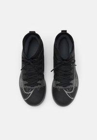 Nike Performance - MERCURIAL 8 CLUB IC UNISEX - Indoor football boots - black/iron grey - 3