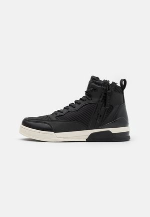 MISSION - Sneakersy wysokie - black/white