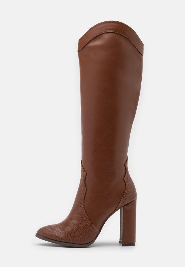 PUDDING - High heeled boots - tan