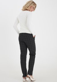 Fransa - FRMECHECK  - Trousers - raw melange - 3