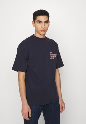 BALANCE UNISEX  - T-shirt print - navy