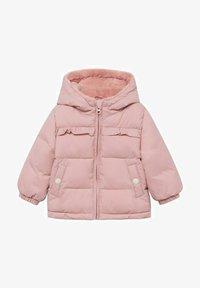 Mango - GEWATTEER MET IMITATIEBONT - Winter coat - roze - 0