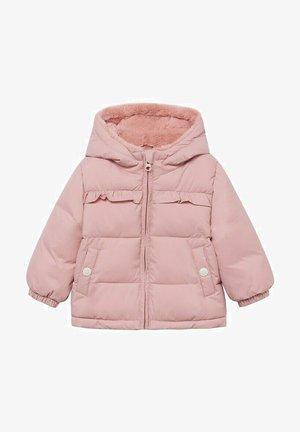 GEWATTEER MET IMITATIEBONT - Winter coat - roze