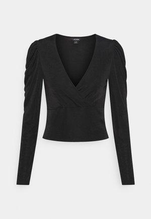 VANESSA - Long sleeved top - black