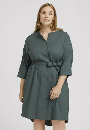 STYLE WITH - Shirt dress - washed jasper green