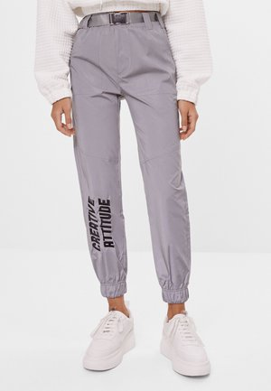 Leggings - Hosen - silver