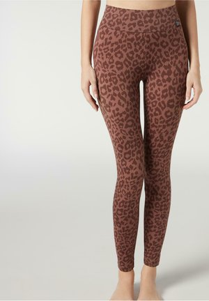 Leggings - Trousers - animalier cappuccino