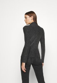Who What Wear - RUCHED TURTLENECK - Long sleeved top - black - 2