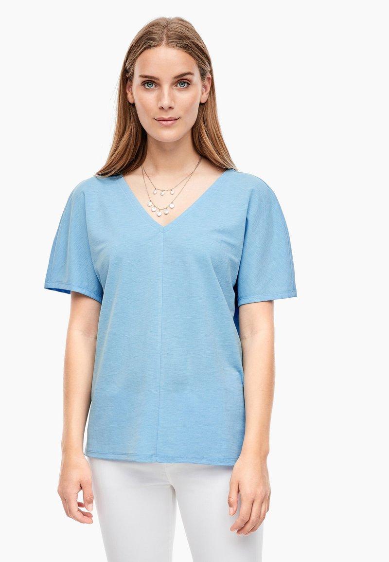 s.Oliver - Basic T-shirt - light blue