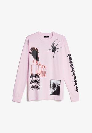 Top sdlouhým rukávem - pink