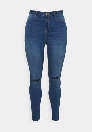 LAWLESS SLASH KNEE HIGHWAISTED - Jeans Skinny - blue
