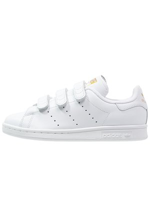 STAN SMITH LACE-FREE SHOES - Matalavartiset tennarit - footwear white / gold metallic