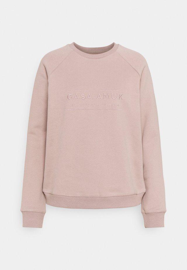 HERITAGE LOGO - Sweatshirt - taupe