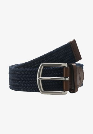 BRAIDED FABRIC STRETCH - Cintura - navy