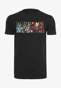 Mister Tee - MARVEL LOGO CHARACTER  - Print T-shirt - black - 0