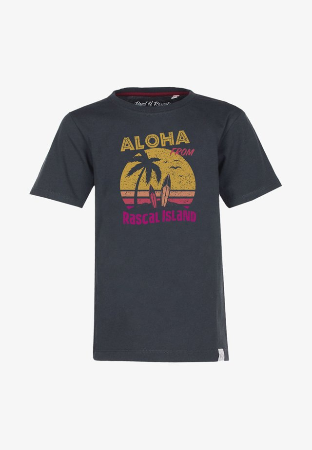 ALOHA - Print T-shirt - dark-grey