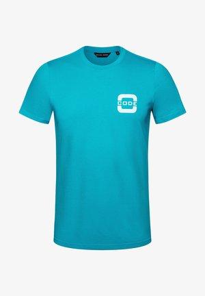 SALTWATER - Print T-shirt - sea blue