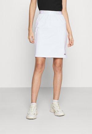 CHESS SKIRT - Minisukně - bright white