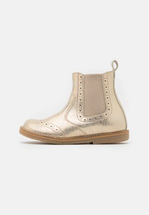 CHELYS BROGUE - Classic ankle boots - gold