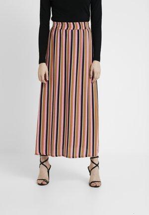 OSANNA STRIPED SKIRT - Długa spódnica - brown/pink