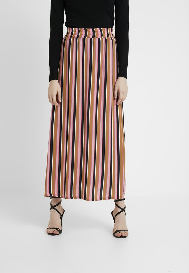 OSANNA STRIPED SKIRT - Falda larga - brown/pink