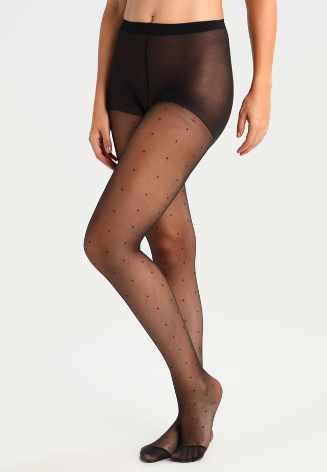 20 DEN COLLANT EFFET PLUMETIS - Collants - noir