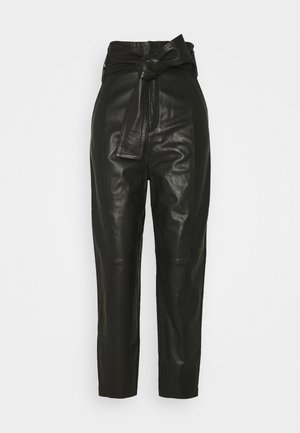 ZALIKAIW PANT - Leather trousers - black