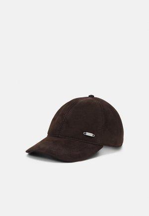 SUEDE CAP  - Naģene - brown