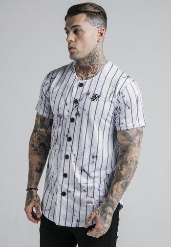 MARBLE STRIPE BASEBALL - Camisa - grey/white