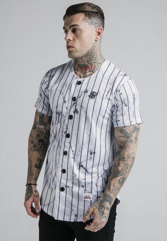 MARBLE STRIPE BASEBALL - Camicia - grey/white