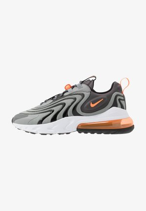 AIR MAX 270 REACT - Sneakers laag - iron grey/total orange/particle grey/black/white