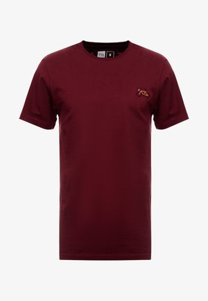 STOCKHOLM STITCH BIKE - T-shirt med print - burgundy