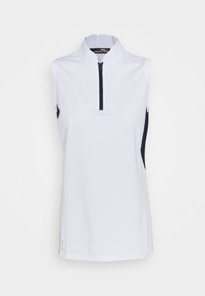 SLEEVELESS - Print T-shirt - pure white/french navy