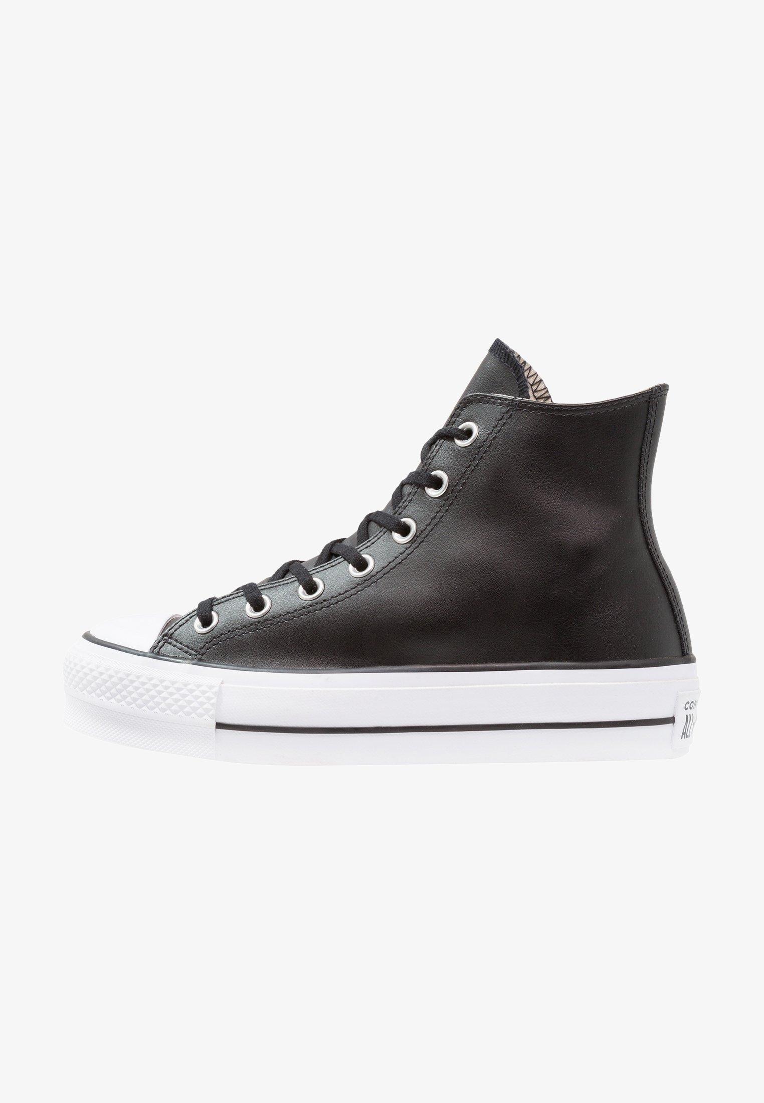 Aterrador Arte El otro día  Converse CHUCK TAYLOR ALL STAR LIFT CLEAN - Zapatillas altas -  black/white/negro - Zalando.es